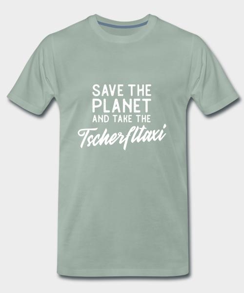 Save the planet and take the Tscherfltaxi - schütze unseren Planeten und gehe zu Fuß